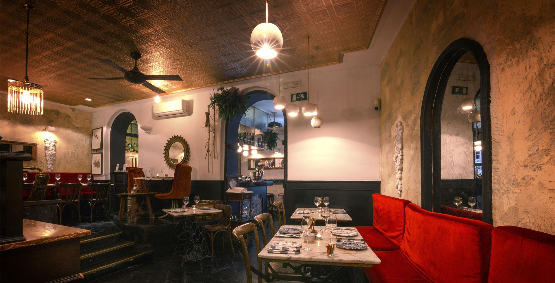 Image of the lounge of the Argentine restaurant El Camoatí